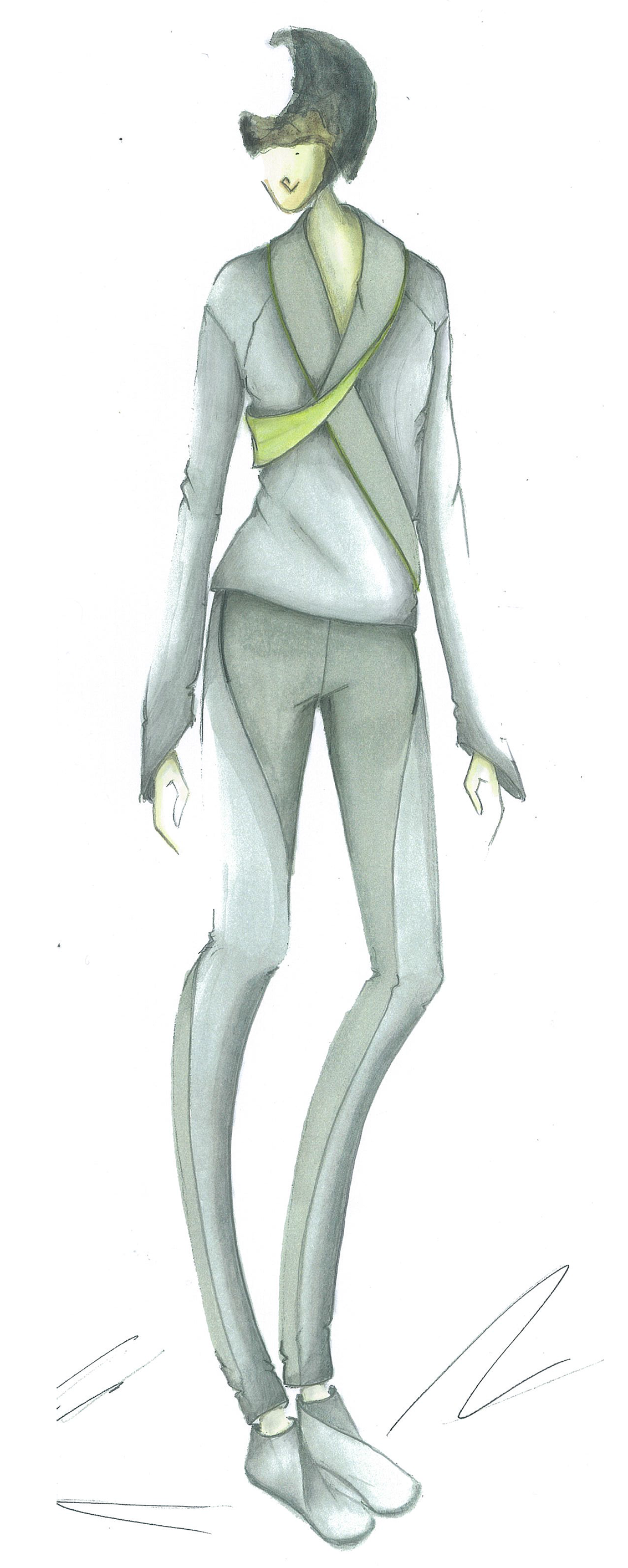 silhouette veste et pantalon diagonal collection openmind